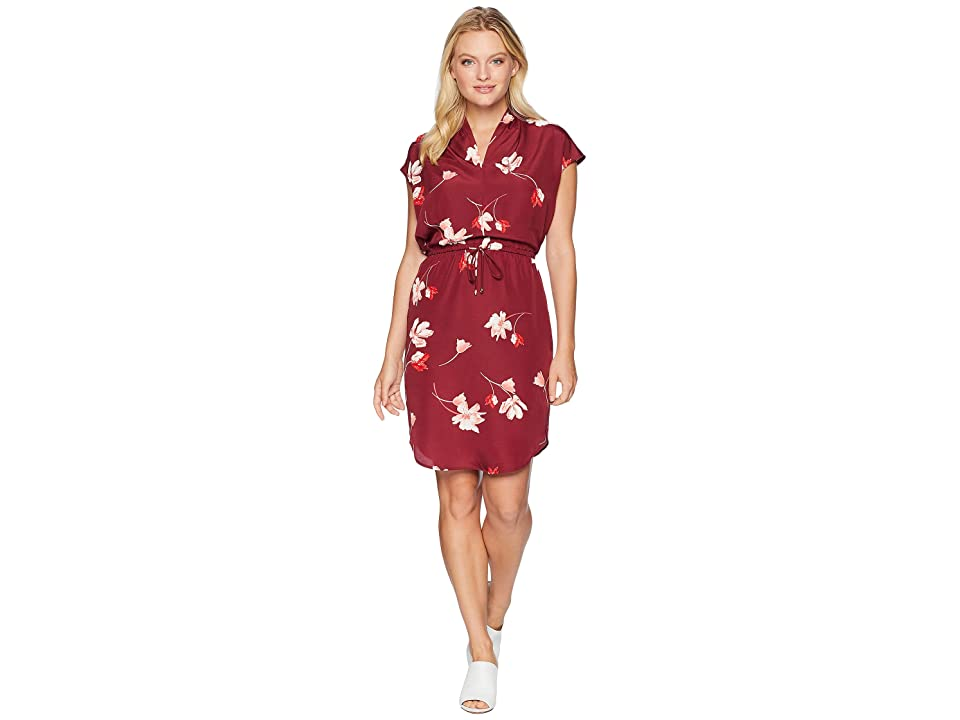 LAUREN Ralph Lauren Petite Floral Drawstring Dress (Multi) Women
