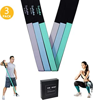 Forhaha Resistance Bands for Leg Butt Arm Shoulder,  Exercise Bands with Optional Interval,  Anti-slip WorkoutBands for Men Women,  Stretch Bands for Home Fitness,  Stretching,  Strength Training - 3 pack