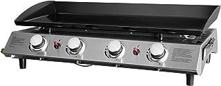 FAVEX - Plancha Bahia 4 feux Cooking Box - Surface cuisson 80 x 36 cm - 4 brûleurs rond Inox - Plaque acier émaillée - Pie...