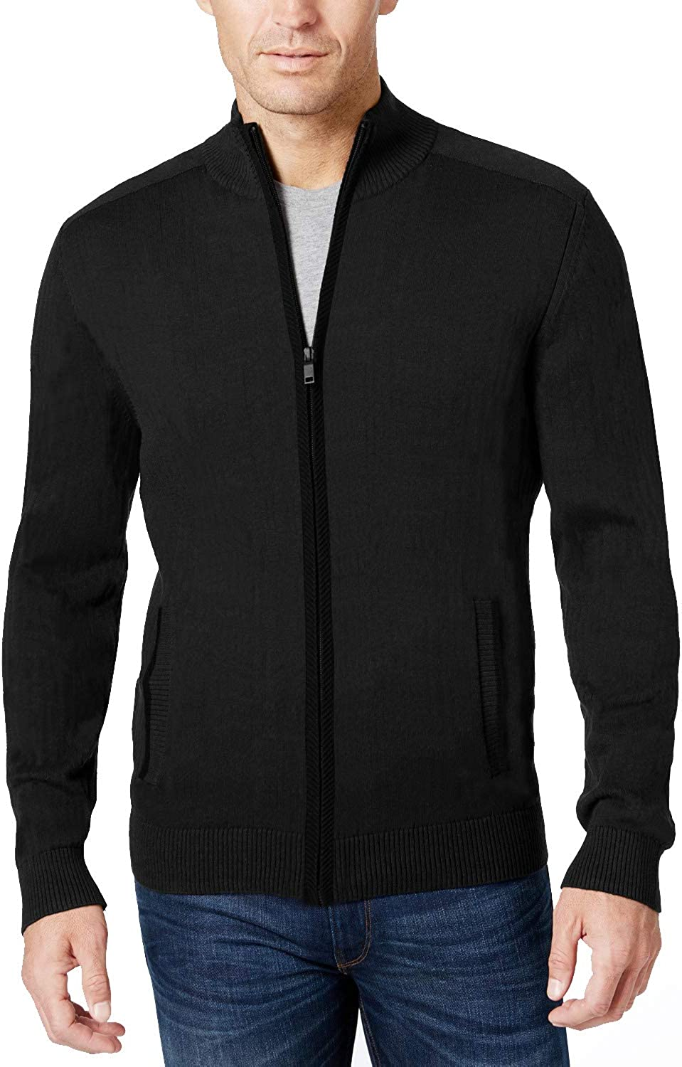 COOFANDY Men's Full Zip Sweater Slim Fit Stylish Knitted Cardigan Jacket with Pockets