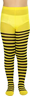 Best black and white striped tights girls Reviews