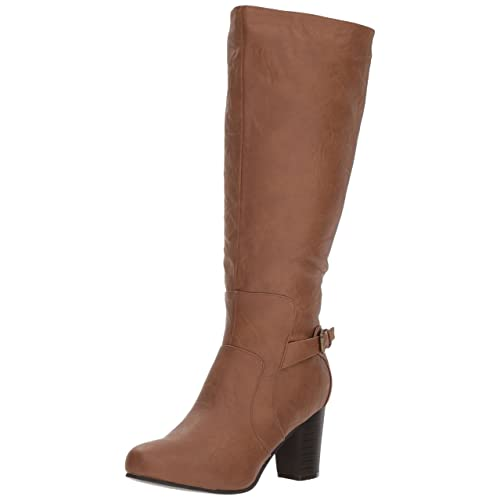 ded639dabb77f Womens Regular and Wide-Calf High-Heeled Buckle Detail Boot