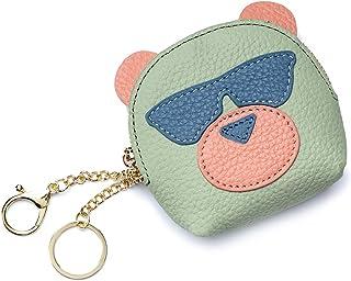 [imeetu]コインケース 小銭入れ クラッチバッグ ファスナー財布 カード 牛本革 かわいい熊の型 丈夫 ガールズ レデイース 女の子 プレゼント