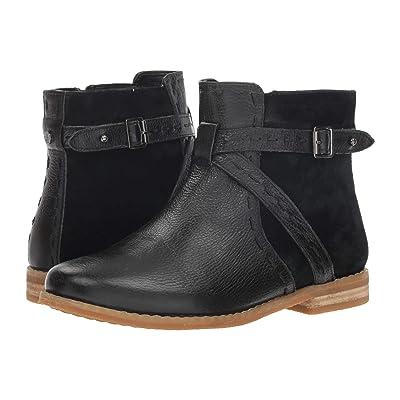 Hush Puppies Chardon Belt Boot (Black Leather/Suede) Women