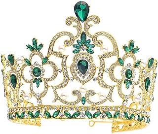 Dongyu Corona, Trapano Ad Acqua da Ballo, Gioielli da Sposa, Accessori for Capelli for Feste di Compleanno (Color : Green)