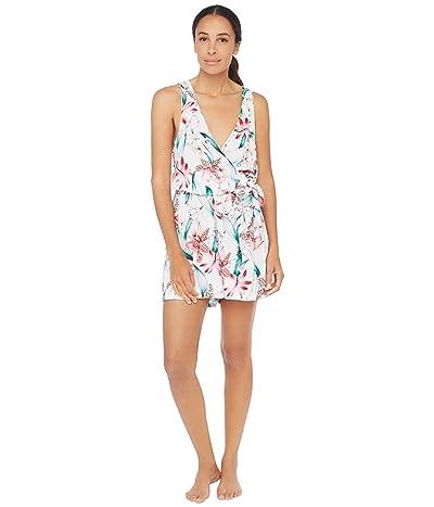 La Blanca Flyaway Orchid Surplice Romper Dress Swimsuit Cover-Up (White) Women