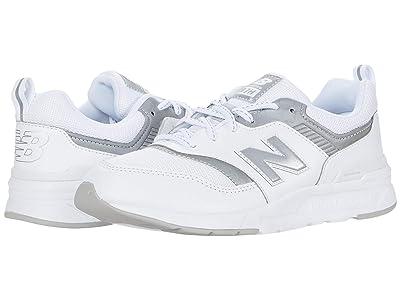 New Balance Kids 997H (Big Kid) (Munsell White/Silver) Boys Shoes