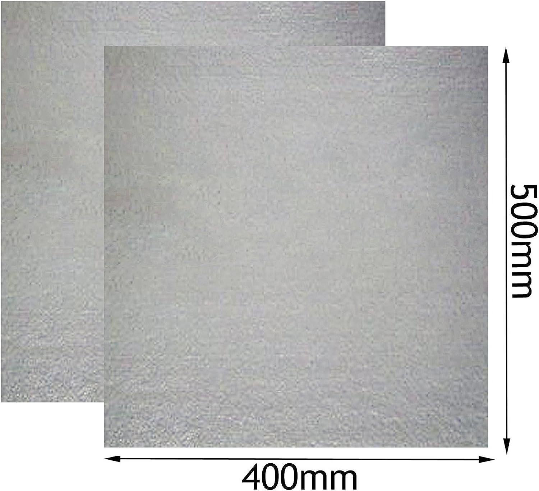 Spares2go - Funda universal de guía de ondas para horno de microondas Russell Hobbs (400 mm x 500 mm, 2 unidades)
