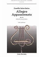 Saint-Saens, Camille Allegro Appassionato, Op 43 Cello and Piano by Malkin Carl Fischer Publishing