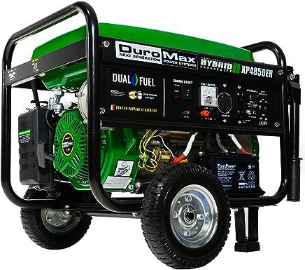 Duromax XP4850EH 3850 Running Watts/4850 Starting Watts Dual Fuel Electric Start Portable Generator