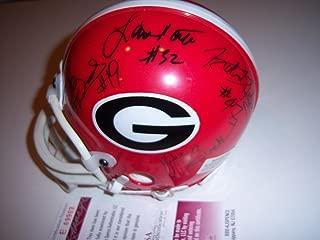 Robert Edwards and Hines Ward Signed Mini Helmet - JSA Certified - Autographed College Mini Helmets