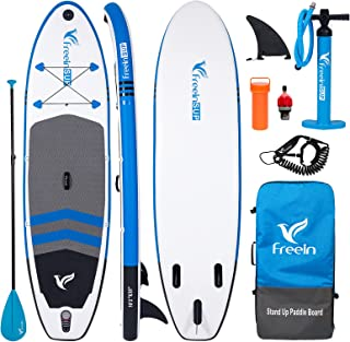 Freein All Round SUP Inflatable Stand Up Paddle Board 10'2 Long Package with Electric Pump Adapter