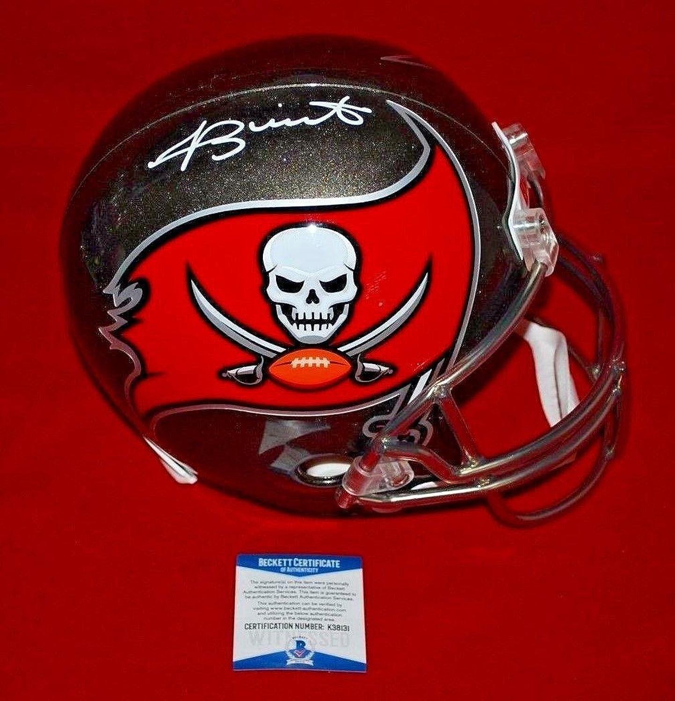 Jameis Winston Autographed Helmet  Full Size Beckett witnessed  Beckett Authentication  Autographed NFL Helmets