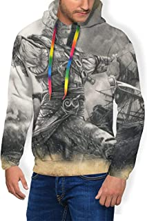 Assassins Creed Black Flag Edward Kenway Youthful Personality Plus Velvet Thicken Men Hoodies