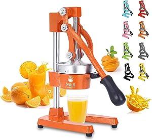 Professional Manual Citrus Juicer Commercial Grade Hand Press Orange Squeezer Heavy Duty Manual Orange Juicer Metal Lemon Squeezer Premium Quality 2021 Upgrade,Orange
