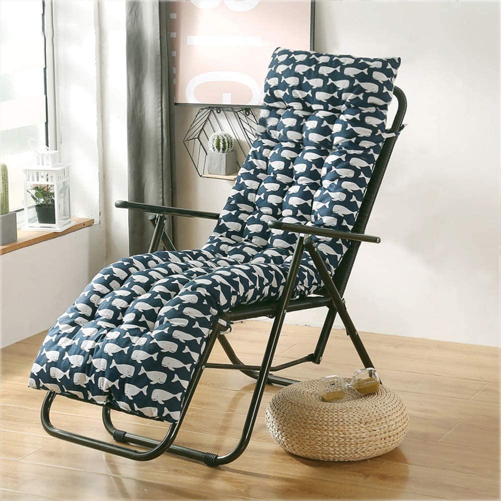 Lounge Sacramento Mall Cushion Thick Garden Patio Max 55% OFF Chaise Mattress Padded Sun Lou