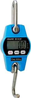 Outmate Mini Digital Crane Scale 300kg/600lbs with LED (Plastic Shell,Blue)