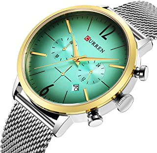 Mens Watch Dress Chronograph Wristwatch Quartz Analog Watches for Men Fashion Casual Style 8313