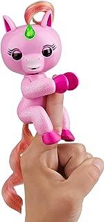 WowWee Fingerlings Light Up Glitter Unicorn, Jojo Interactive Collectible Baby Pet, Glitter pink 3848