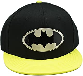 DC Comics Metal Batman Logo Black and Yellow Colored Snapbac