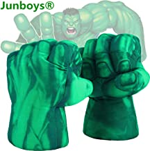 The Hulk Boxing Gloves Smash Hands Fists Incredible Hulk Soft Plush Toys Cosplay Superhero Costume Gloves, Birthday Gifts for Kids, Teens, Girls Boys. (1 Pair, Green)