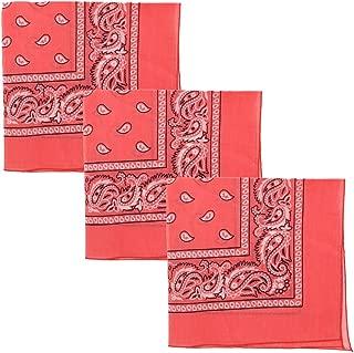 pink and brown bandanas