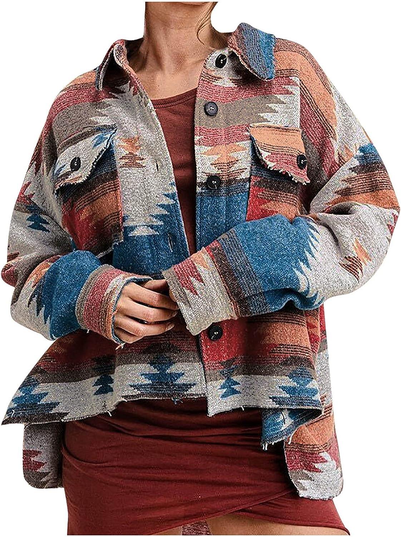5665 Womens Tie Dye Lapel Jacket, Plus Size Cropped Fashion Colorblock High Low Buttton Down Pockets Side Slit Denim Coat