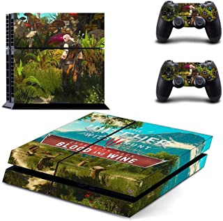 Playstation 4 Skin Set - The Witcher 3: Wild Hunt HD Printing Vinyl Skin Cover Protective for PS4 Console and 2 PS4 Controller by Mr Wonderful Skin