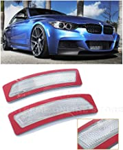 Extreme Online Store Repalcement for 2012-2015 BMW F30 F31 3-Series M-Sport Model | Factory Style Front Bumper Fender Reflector Side Marker Lights Turn Signal Lamps (Crystal Clear)