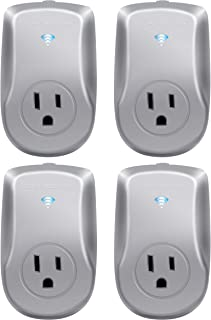 Sponsored Ad - TOPGREENER TGWF115APM-SV-4PCS Wi-Fi Powerful Plug with Energy Monitoring, 15A, 1800W, No Hub Required, Comp...