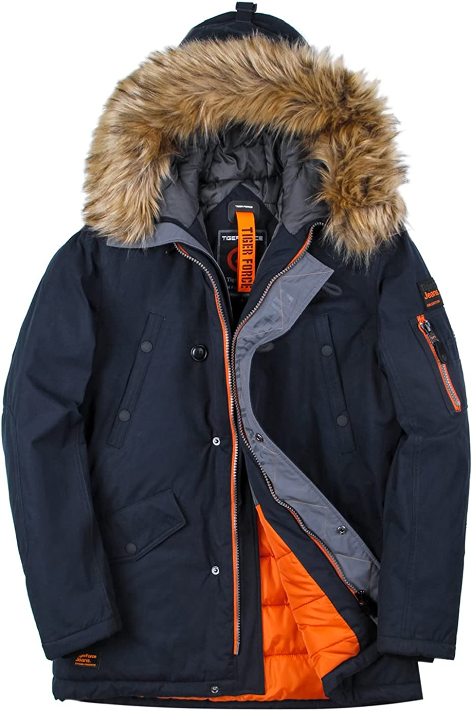 Import TIGER FORCE Parka Coat Winter Waterproof Hooded Free Shipping Cheap Bargain Gift Jacket Men Quilt