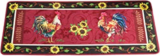 Cushioned French Country Sunflower Rooster 4' Long Foam Rug