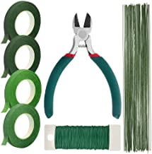 Paxcoo Floral Stem Arrangement Tools Kit with Wire Cutter Green Floral Tapes 26 Gauge Stem Wire and 22 Gauge Paddle Wire f...