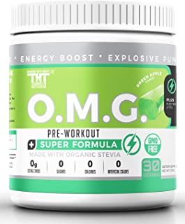 OMG Preworkout Drink for Men and Women-Scientifically Crafted to Help Boost Energy,Stamina,Mental Clarity,Focus and Perfor...