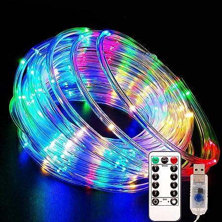 10m LED-Lichtschlauch Außen Warmweiß360 LEDsIP443000K 13mm Ø Lichter