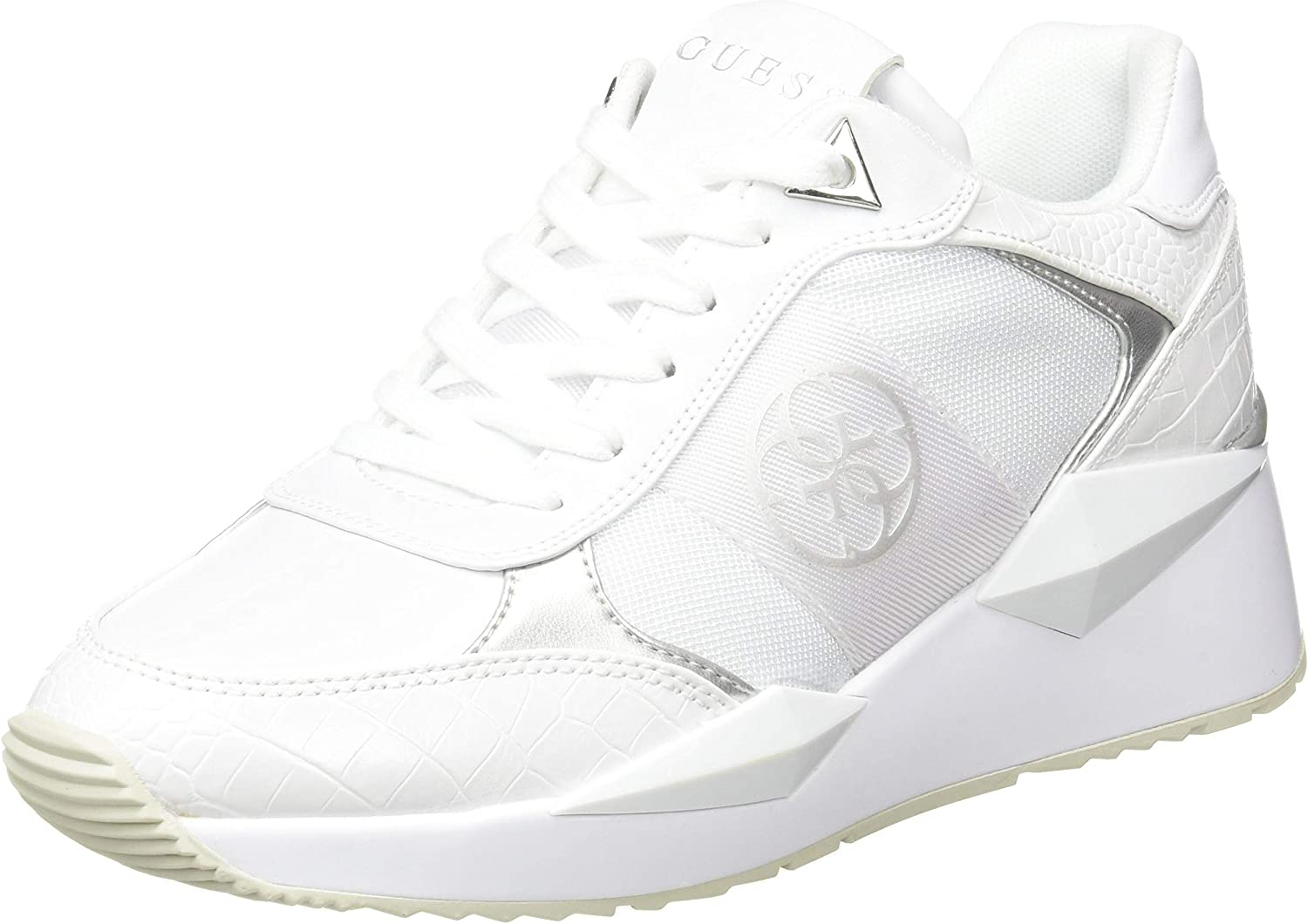 GUESS Women's Tesha 4G Logo White US Selling Size Sneakers in Ranking TOP18