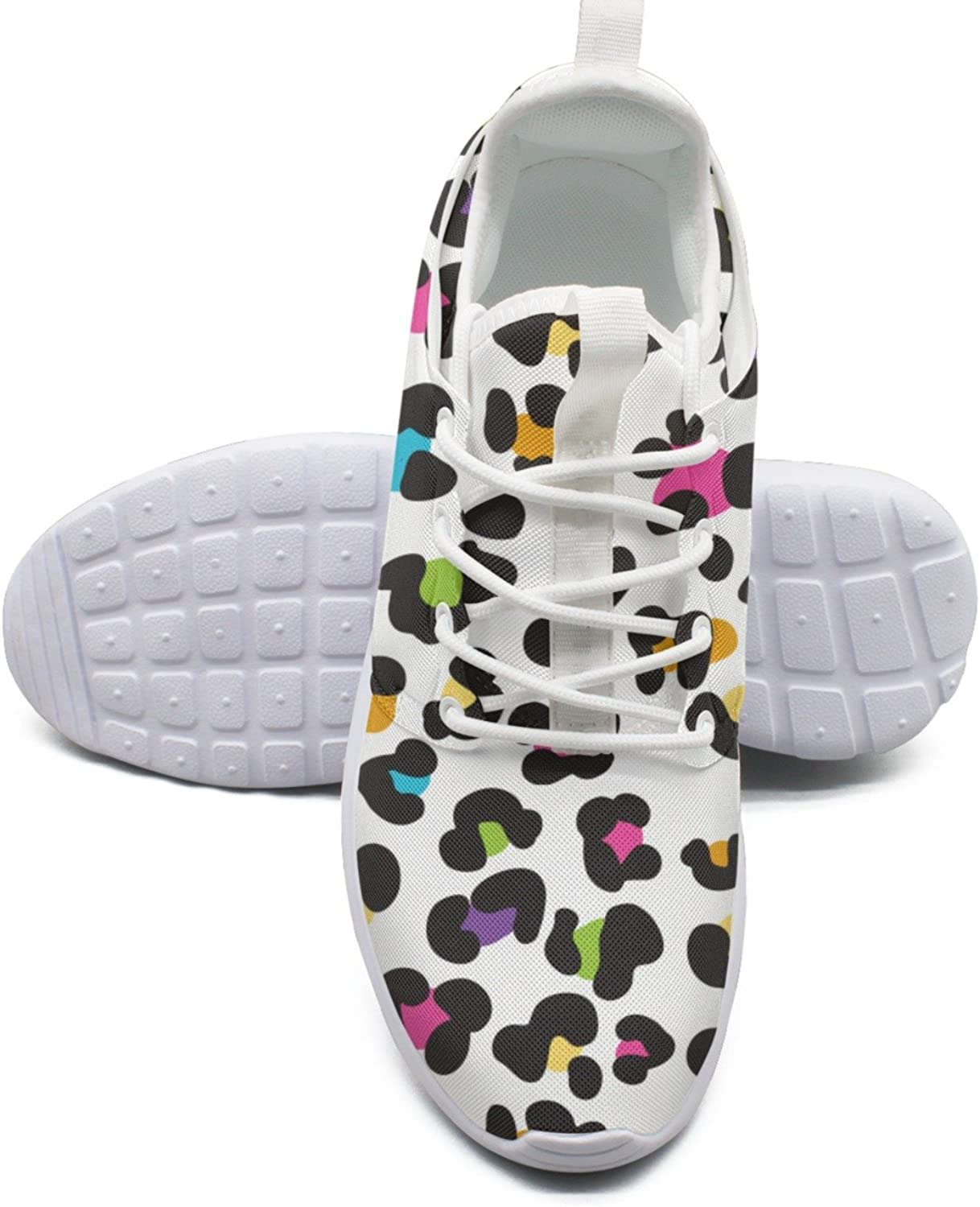 Women's Fashion Lightweight Sneakers shoes colorful Cheetah Leopard Simple Running shoes