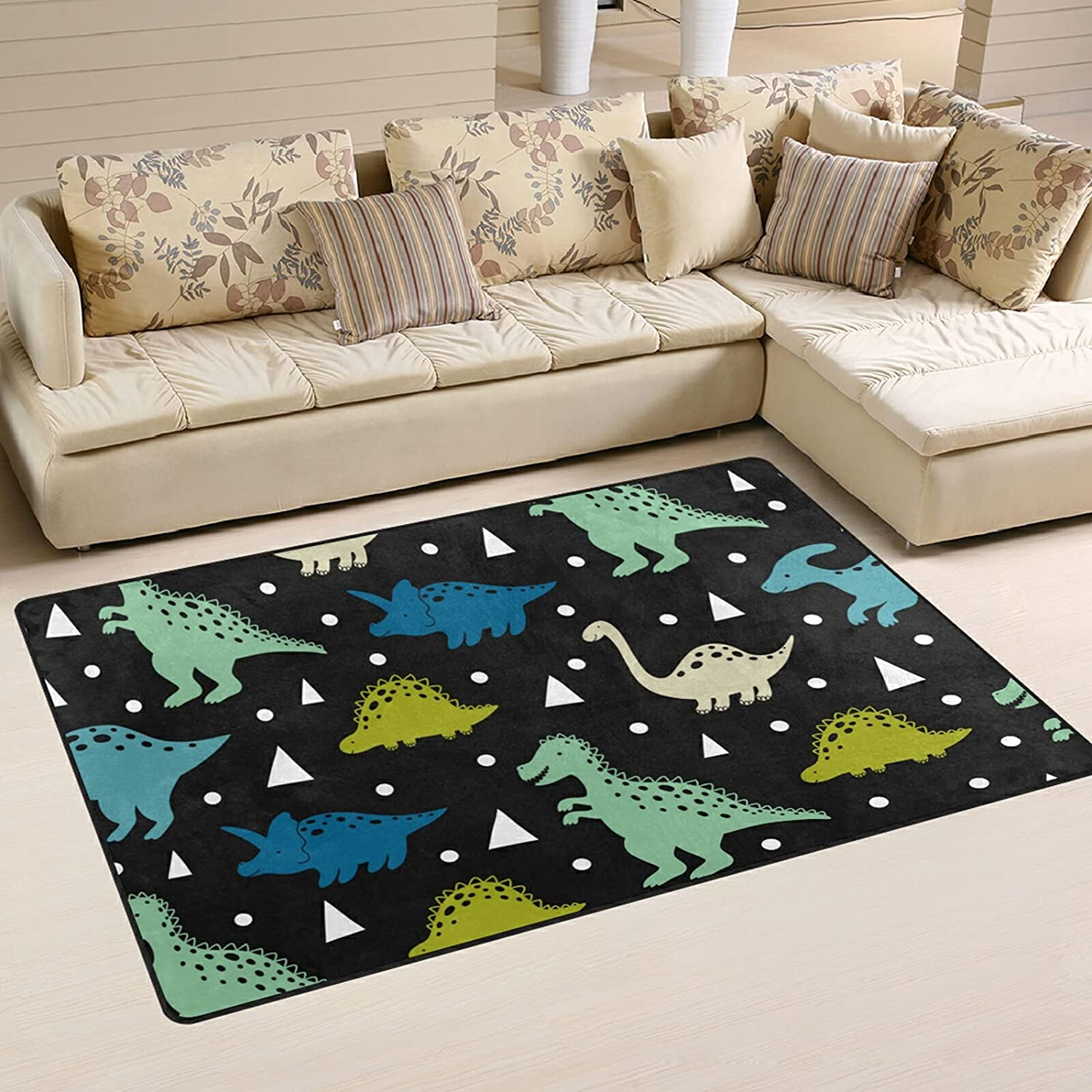 Cute Dinosaurs Selling rankings Pattern Large Soft Nursery Rug Rugs Playmat 2021new shipping free Area