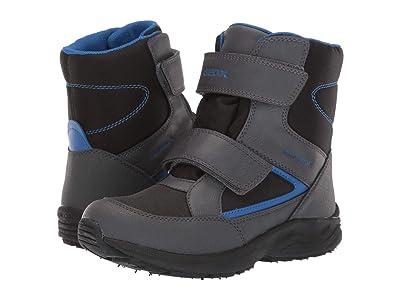 Geox Kids Jr Kuray Babx 1 (Big Kid) (Black/Blue) Boys Shoes