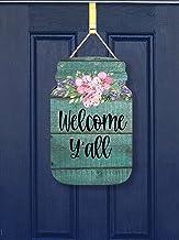 Welkom Y'all Mason Jar Borden, vintage decoratief wandbord, stevig houten bord voor landelijke woondecoratie, klaar om op ...