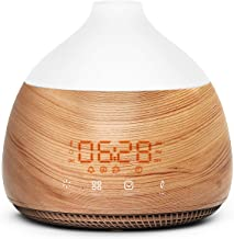 ASAKUKI Essential Oil Diffuser and Humidifier with Alarm Clock, 300ml Cool Mist Humidifier with Touch Screen, Quiet & Humi...