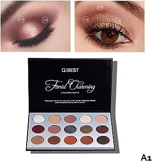Paleta de sombra de ojos mate y chatoyante, dkhsy paleta de maquillaje de sombra de ojos muy pigmentée caliente Nude Nature Cosmetics