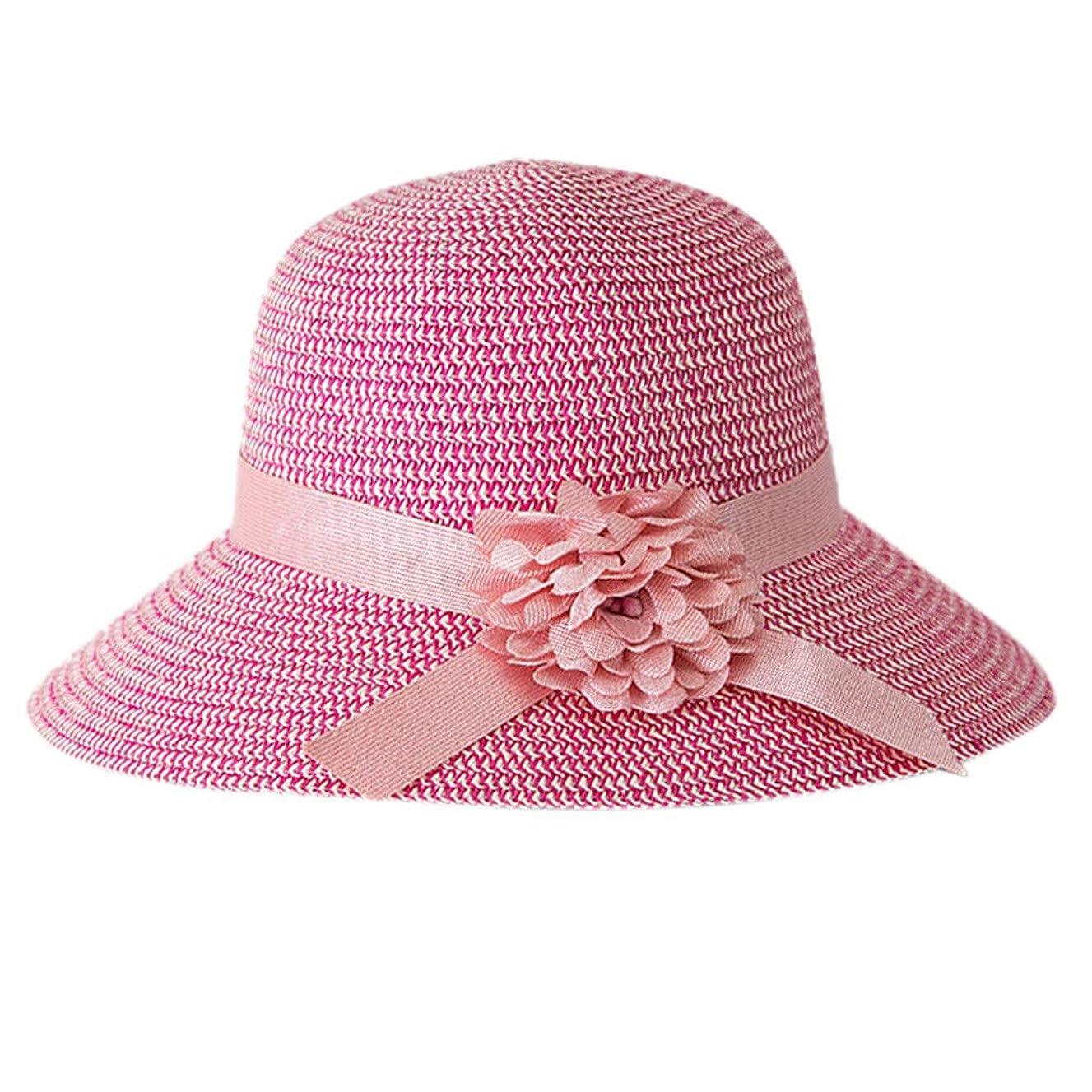 平衡カーフガス日よけ帽子 レディース ハット 帽子 日よけ サンバイザー ウォーキング UVカット ハット 紫外線対策 可愛い 小顔効果抜群 大きいサイズ つば広 折りたたみ ハット レディース 夏 春 アウトドア 無地 花 ROSE ROMAN