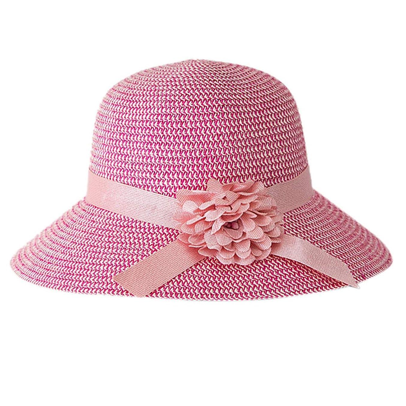 洋服忠実なアルネ日よけ帽子 レディース ハット 帽子 日よけ サンバイザー ウォーキング UVカット ハット 紫外線対策 可愛い 小顔効果抜群 大きいサイズ つば広 折りたたみ ハット レディース 夏 春 アウトドア 無地 花 ROSE ROMAN