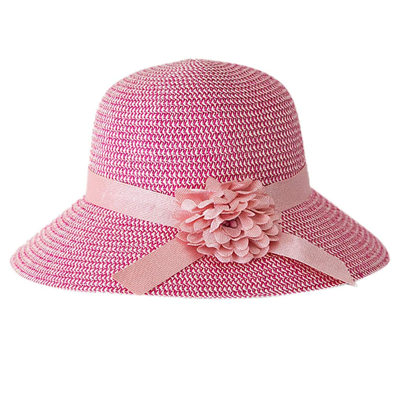 描く仲介者借りる日よけ帽子 レディース ハット 帽子 日よけ サンバイザー ウォーキング UVカット ハット 紫外線対策 可愛い 小顔効果抜群 大きいサイズ つば広 折りたたみ ハット レディース 夏 春 アウトドア 無地 花 ROSE ROMAN