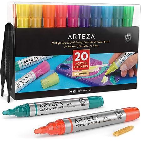 8 Color  Metalic Acrylic Paint Marker Pens Set Art Glass Highlighter