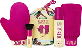 Coco & Eve Tanning Goddess Kit – Self Tanner Mousse Kit (Dark), All Natural Sunless Tanning Mousse, Instant Self Tanning L...