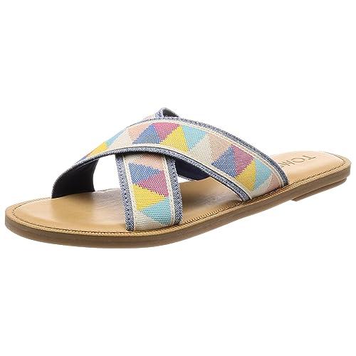 e7e6b1c84ec Toms Womens Viv Open Toe Casual Slide Sandals