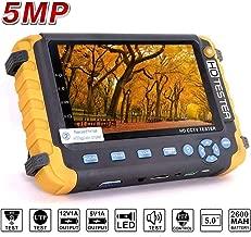 4 in 1 CCTV Camera Tester, JZTEK 5 inch LCD Screen Video Monitor for 1080P/3.0mp/4.0mp/5.0 Megapixel AHD/TVI/CVI/CVBS Analog Security Camera, PTZ/UTP Cable/Audio Tester w/2600mAh Battery, VGA&HDMI