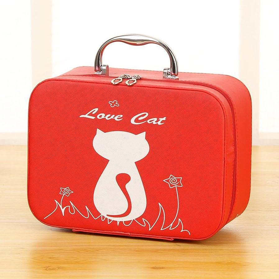 着飾るペデスタル材料シンプルでかわいいメイクアップケース専門の洗面化粧ポーチ美容化粧品オーガナイザー女性のための旅行用バッグ